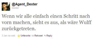 tweet von @Agent_Dexter: